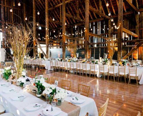 Rustic Barn Wedding Lighting by Sound Image Entertainment