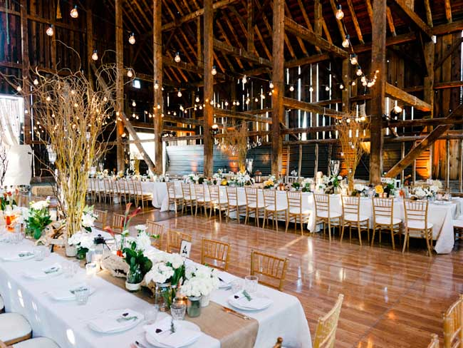 Our rustic barn wedding lighting featured on martha stewart rustic barn wedding lighting by sound image entertainment junglespirit Images