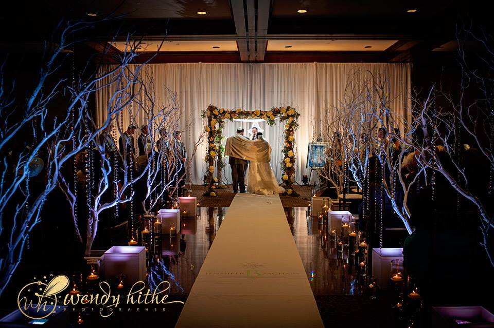 Draping & Lighting for Jewish Wedding Ceremony at Arden Hills Resort